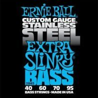 Ernie Ball 2845 струны для бас-гитары Stainless Steel Bass Extra Slinky (40-60-70-95)