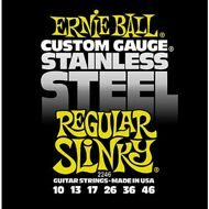 Ernie Ball 2246    Stainless Steel Regular Slinky (10-13-17-26-36-46)